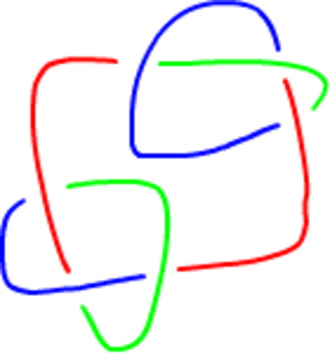 Tricolorability - Image: False Knot Tricolor