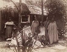 Māori whānau di Rotorua negli anni 1880