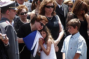 Lucía Hiriart - Lucía Hiriart Rodríguez and members of her family at the funeral of her husband Augusto Pinochet on 12 December 2006.