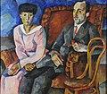 Family Portrait. N. M. Schekotov with His Wife by Aristarkh Lentulov (1919).jpg