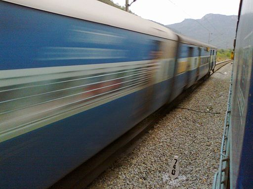 Fast Moving Train India