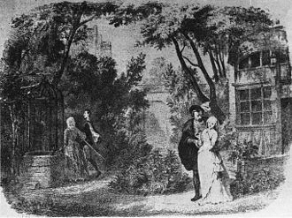 Faust (opera) - Marguerite's garden in the original production, set design by Édouard Desplechin