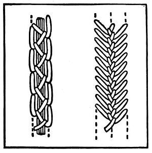 Featherstitch - Image: Feather stitch variations