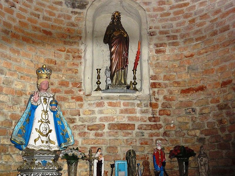 Felleries (Nord, Fr) chapelle, rue de la Place, intérieur