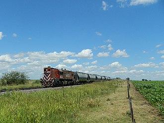 EMD G12 - A Ferroexpreso Pampeano EMD G12 on the Sarmiento Railway.
