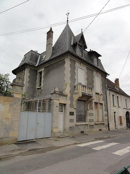 Festieux (Aisne) maison quartier général de De Gaulle