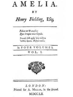 <i>Amelia</i> (novel) Novel by Henry Fielding