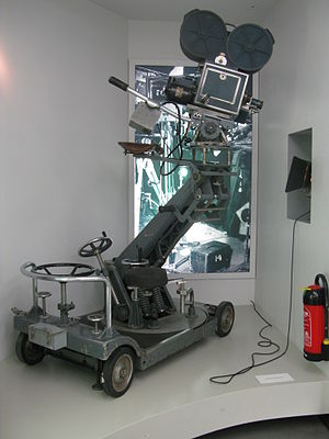 Museum of Film and Television Berlin - Motion picture camera on a Dolly