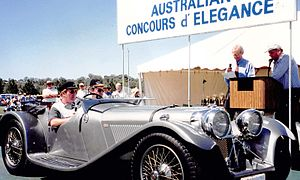 SS Jaguar 100 - A Finch SS100 winning the Australian Concours d' Elegance (Gold Coast)