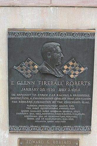 Fireball Roberts - Grave marker