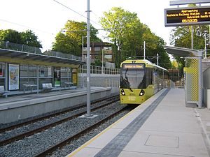 West Didsbury tram stop - The first Metrolink passenger service  at West Didsbury, 23 May 2013