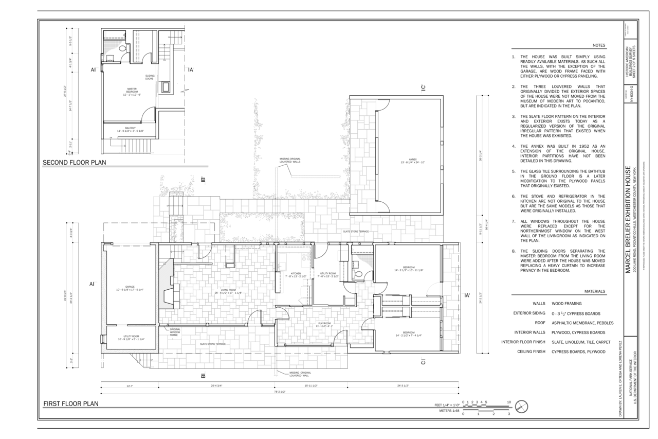 File:First and Second Floor Plan - Kykuit, Marcel Breuer ...
