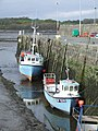 Fishing Boats along the harbour wall, Garlieston - geograph.org.uk - 604352.jpg