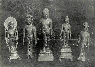 Vallabhi - Five Bronzes recovered from Valabhipur
