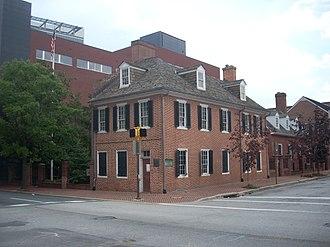 Jonestown, Baltimore - Flag House on Pratt Street