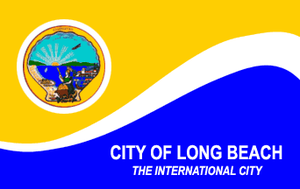 Long Beach Fire Department (California) - Image: Flag of Long Beach, California
