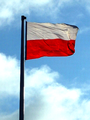 Flag of Poland at Arkadia in Warsaw 2015.PNG