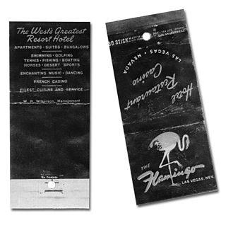 "Flamingo Las Vegas - ""The West's Greatest Resort Hotel,"" matchbook advertising the Flamingo resort, circa 1946"