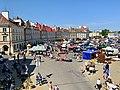 Flea market at Zamkowy Square in Lublin, Aug 2019, 01.jpg