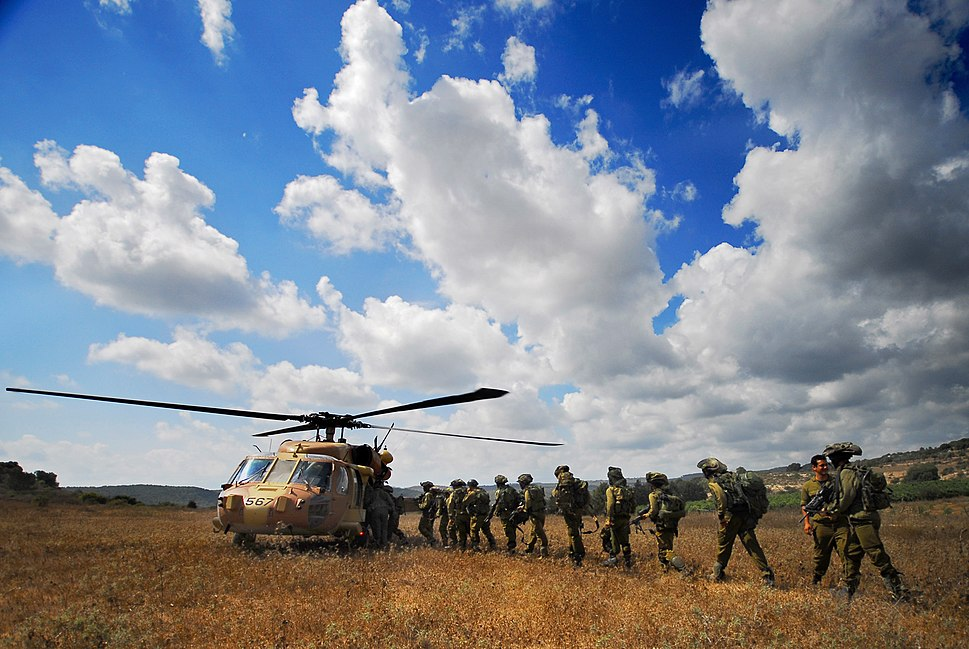 "Flickr - Israel Defense Forces - Golani Soldiers Filing Into ""Black Hawk"" Helicopter, July 2008"