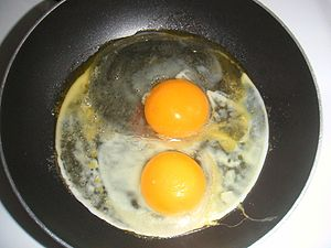 This Is Your Brain on Drugs - The Partnership used a simple advertisement showing an egg in a frying pan, similar to this photo, suggesting that the effect of drugs on a brain was like a hot pan on an egg.