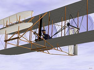 FlightGear - Wright Flyer in 0.9.9, which uses the UIUC FDM