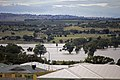 Flood waters on the Murrumbidgee flood plains in North Wagga, looking towards Cartwrights Hill from Estella.jpg
