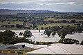Flood waters on the Murrumbidgee flood plains in North Wagga, looking towards Cartwrights Hill from Estella.jpg