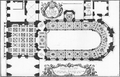 Floor plan of the Royal Chapel at Versailles in 1714 by Demortain.png