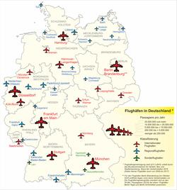 flyplasser tyskland kart Liste over lufthavner i Tyskland – Wikipedia flyplasser tyskland kart