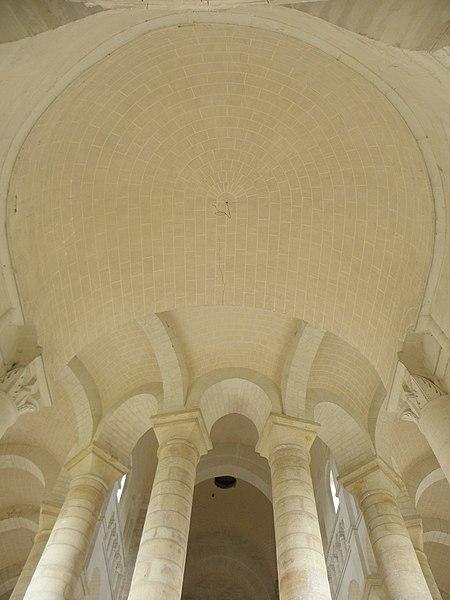 Voûtes de la chapelle absidale et du déambulatoire de l'abbatiale de Fontevraud (49).