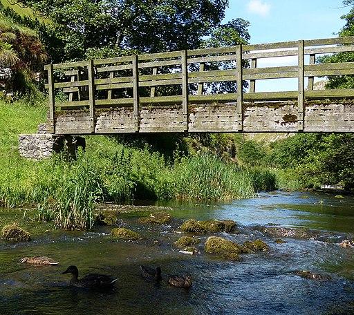 Footbridge across the River Dove (geograph 4787468)