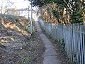 Footpath from Stockton Close to Cumberland Road, Newport - geograph.org.uk - 1752216.jpg