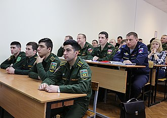 Military University of the Ministry of Defense of the Russian Federation - Cadets from Azerbaijan and Turkmenistan in the university.