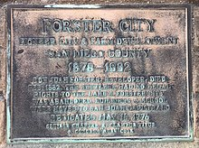 Forster City Plaque