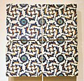 Four Tiles with Arabesque Design, c. 1560, Ottoman dynasty, Iznik, Turkey - Sackler Museum - DSC02547.JPG