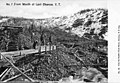 Four men working a mining claim at mouth of Last Chance Creek, near Dawson, Yukon Territory, probably between 1898 and 1907 (AL+CA 922).jpg