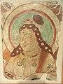 Fragment of a Buddhist Wall Painting, Bazaklik, region of Turfan, Sinkiang, China, Central Asian art, 8th century - Nelson-Atkins Museum of Art - DSC09159.JPG
