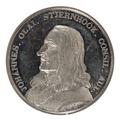 Framsida av medalj med Johan Stiernhöök i profil, 1837 - Skoklosters slott - 99419.tif