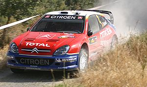 François Duval - Duval at the 2005 Cyprus Rally.