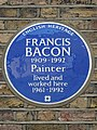 Francis Bacon 1909-1992 Painter lived and worked here 1961-1992.jpg