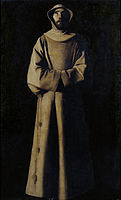 Francisco de Zurbarán - Saint Francis of Assisi according to Pope Nicholas V's Vision - Google Art Project.jpg