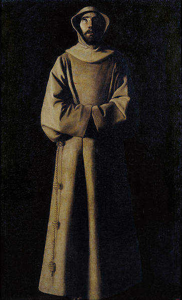 File:Francisco de Zurbarán - Saint Francis of Assisi according to Pope Nicholas V's Vision - Google Art Project.jpg