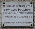 Francisque Poulbot plaque - 13 rue Junot, Paris 18.jpg
