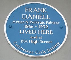 Photo of Frank Daniell blue plaque