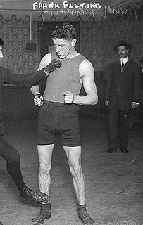 Frankie Fleming Canadian boxer