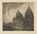 Frans Nackaerts - Grote Markt 1914 - Graphic work - Royal Library of Belgium - S.III 80097.jpg