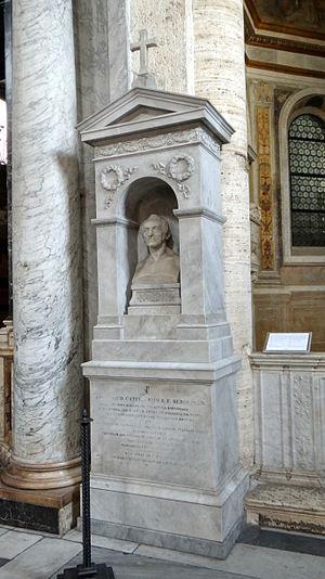 Franz Ludwig Catel - Basilica Santa Maria del Popolo (Rome): tomb of Franz Ludwig Catel