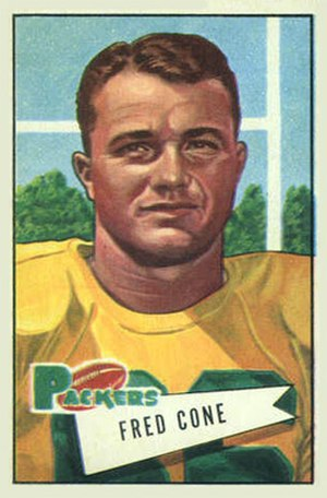 Fred Cone (American football) - Cone on a 1952 Bowman football card