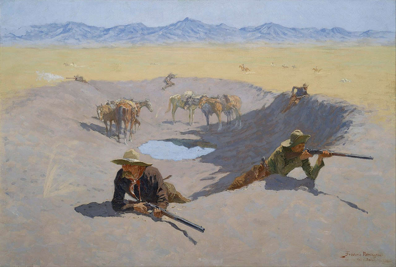 Frederic Remington - Fight for the Waterhole (1903) [1280 x 864]